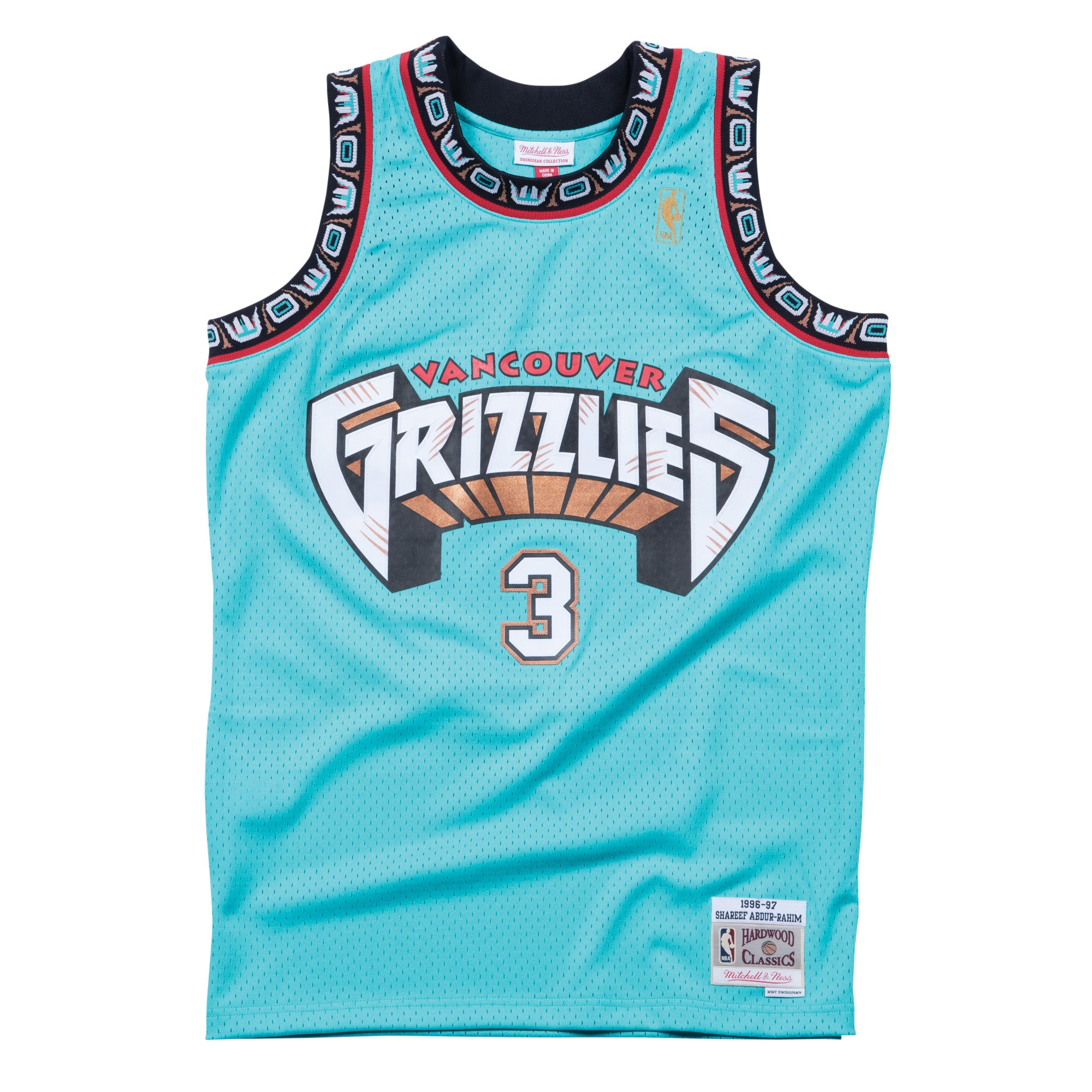 40c6c5026469 SHAREEF ABDUR-RAHIM VANCOUVER GRIZZLIES NBA HARDWOOD CLASSICS THROWBAC – Basketball  Jersey World