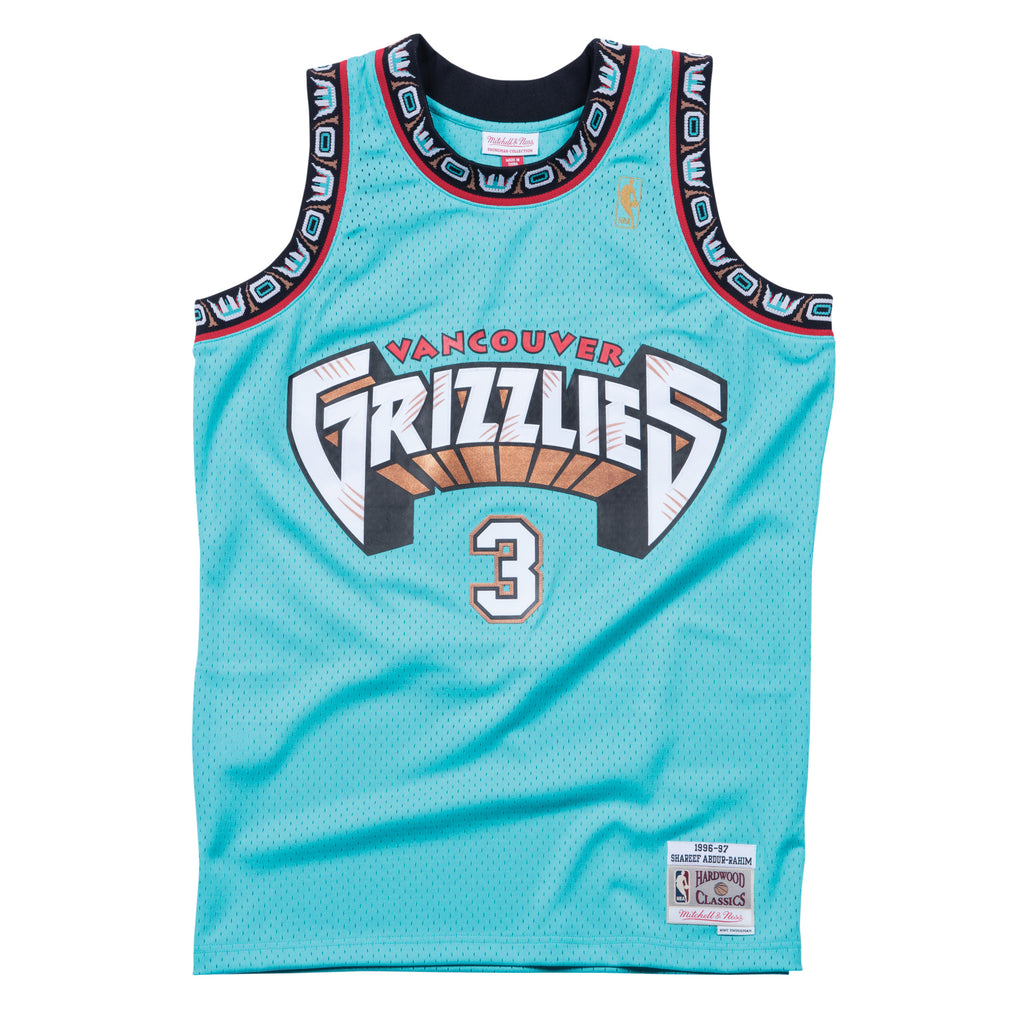 Shareef Abdur-Rahim Vancouver Grizzlies Hardwood Classics Throwback NBA Swingman Jersey