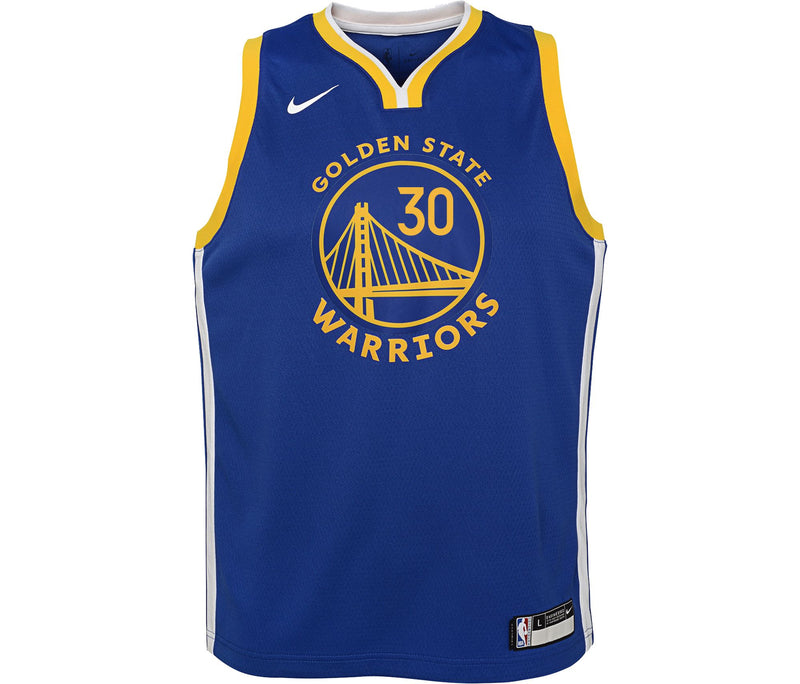 Stephen Curry Golden State Warriors Icon Edition Youth NBA Swingman Jersey