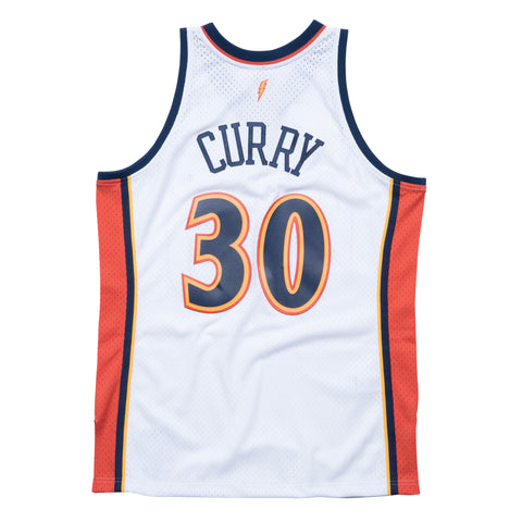 STEPHEN CURRY GOLDEN STATE WARRIORS NBA HARDWOOD CLASSIC THROWBACK WHITE SWINGMAN JERSEY