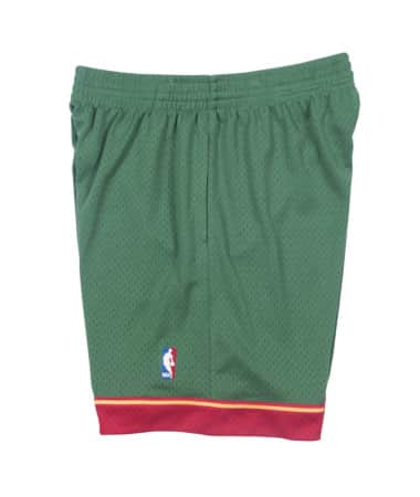SEATTLE SUPERSONICS NBA HARDWOOD CLASSICS THROWBACK 95/96 SWINGMAN SHORTS