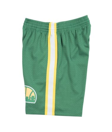 SEATTLE SUPERSONICS NBA HARDWOOD CLASSICS THROWBACK GREEN SWINGMAN SHORTS
