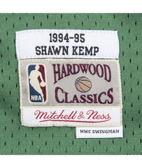 SHAWN KEMP SEATTLE SUPERSONICS NBA HARDWOOD CLASSICS THROWBACK SWINGMAN JERSEY