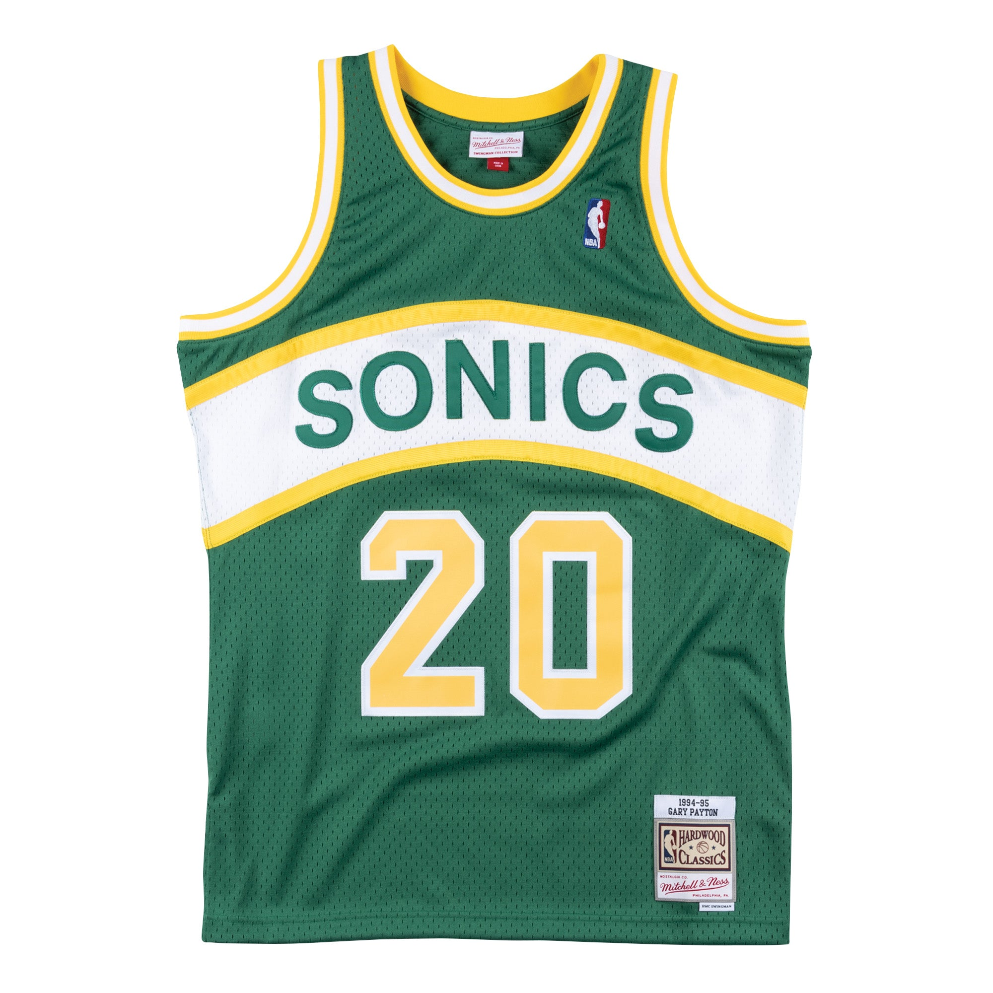 best loved 52b16 006f6 Gary Payton Seattle Supersonics Hardwood Classics Throwback NBA Swingman  Jersey