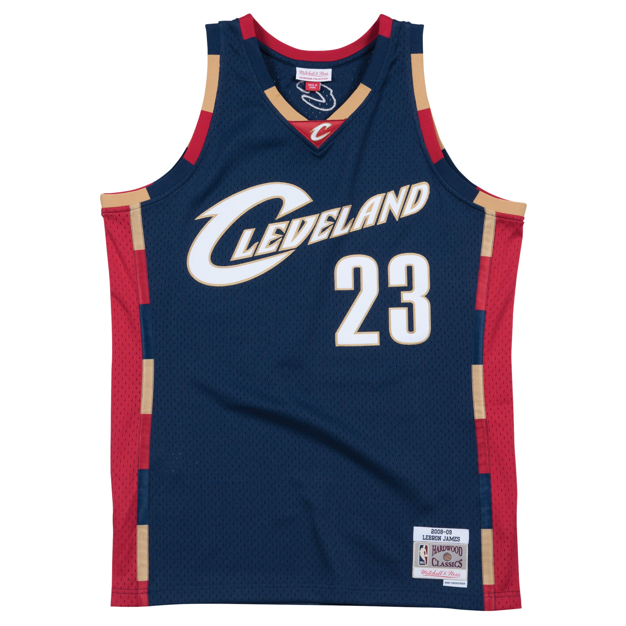 best deals on 5cd69 9c8f3 LeBron James Cleveland Cavaliers Hardwood Classics Throwback NBA Swingman  Jersey