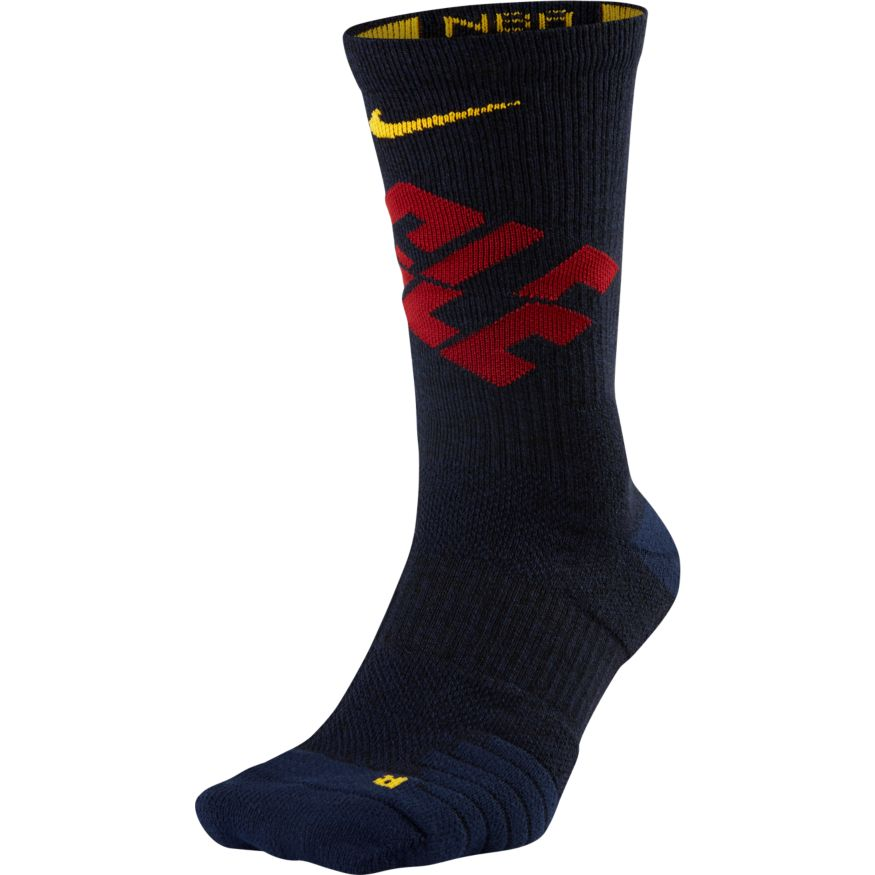 CLEVELAND CAVALIERS NIKE ELITE QUICK CREW BASKETBALL NBA SOCKS - Basketball Jersey World