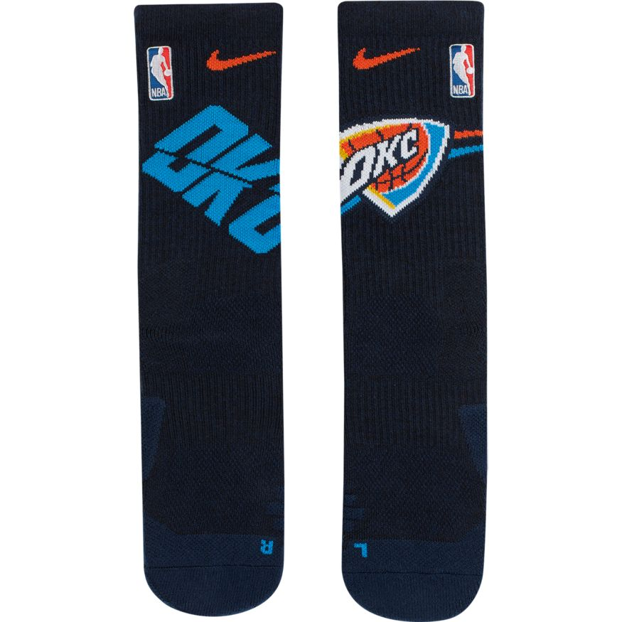 Oklahoma City Thunder Nike Elite Quick Crew Basketball NBA Socks