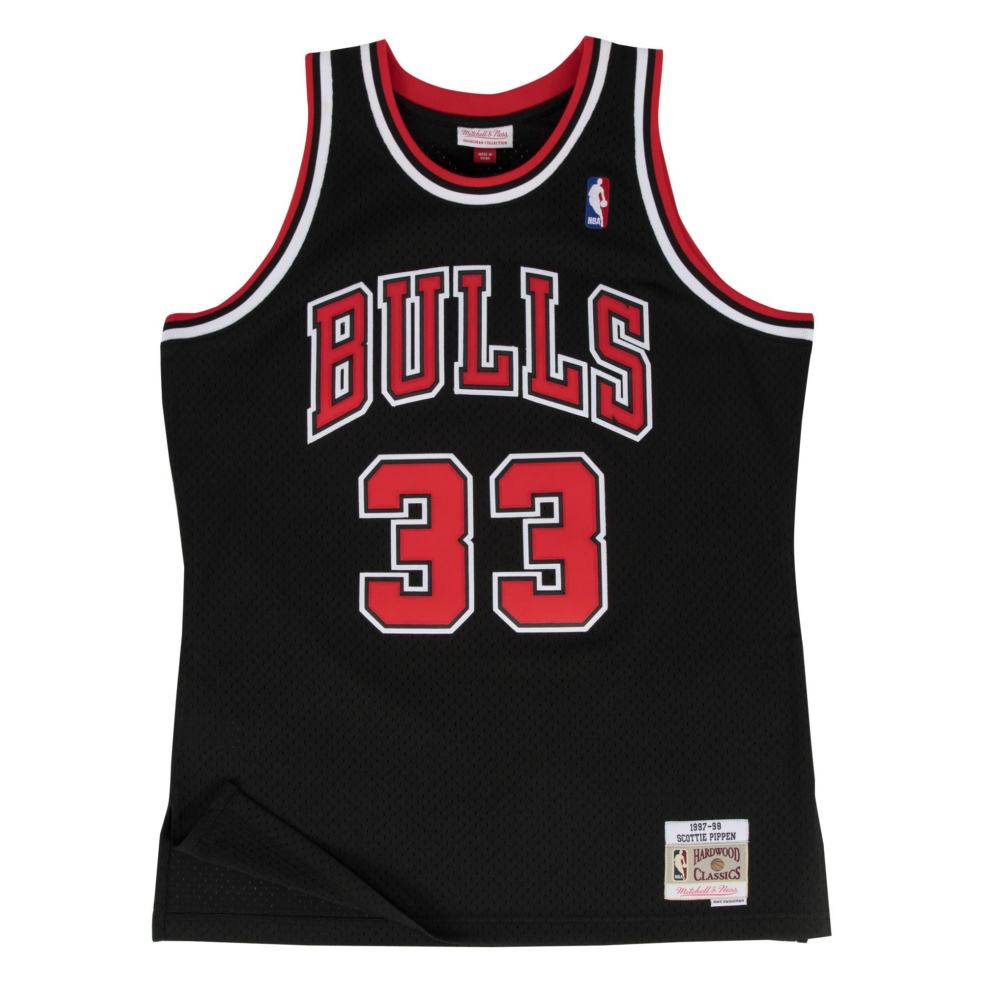 5ff3091bf8a Scottie Pippen Chicago Bulls Hardwood Classics Throwback NBA Swingman