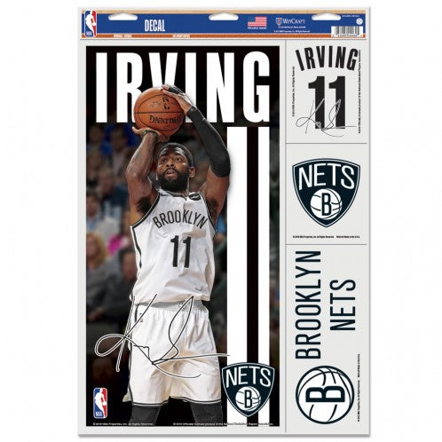 "Kyrie Irving Brooklyn Nets Decal 11"" x 17"" Stickers"