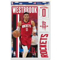 "Russell Westbrook Houston Rockets Decal 11"" x 17"" Stickers"