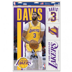 "Anthony Davis Los Angeles Lakers Decal 11"" x 17"" Stickers"