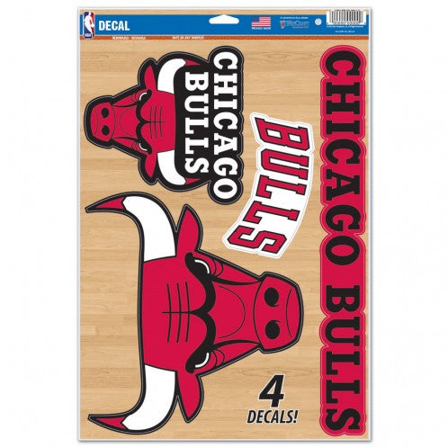 "Chicago Bulls Decal 11"" x 17"" Stickers"