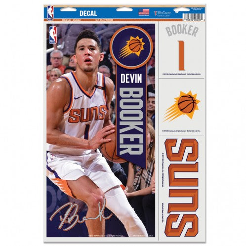 "Devin Booker Phoenix Suns Decal 11"" x 17"" Stickers"