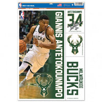 "Giannis Antetokounmpo Milwaukee Bucks Decal 11"" x 17"" Stickers"