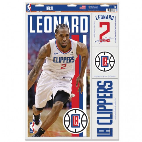 "Kawhi Leonard Los Angeles Clippers Decal 11"" x 17"" Stickers"