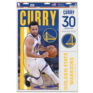 "Stephen Curry Golden State Warriors Decal 11"" x 17"" Stickers"