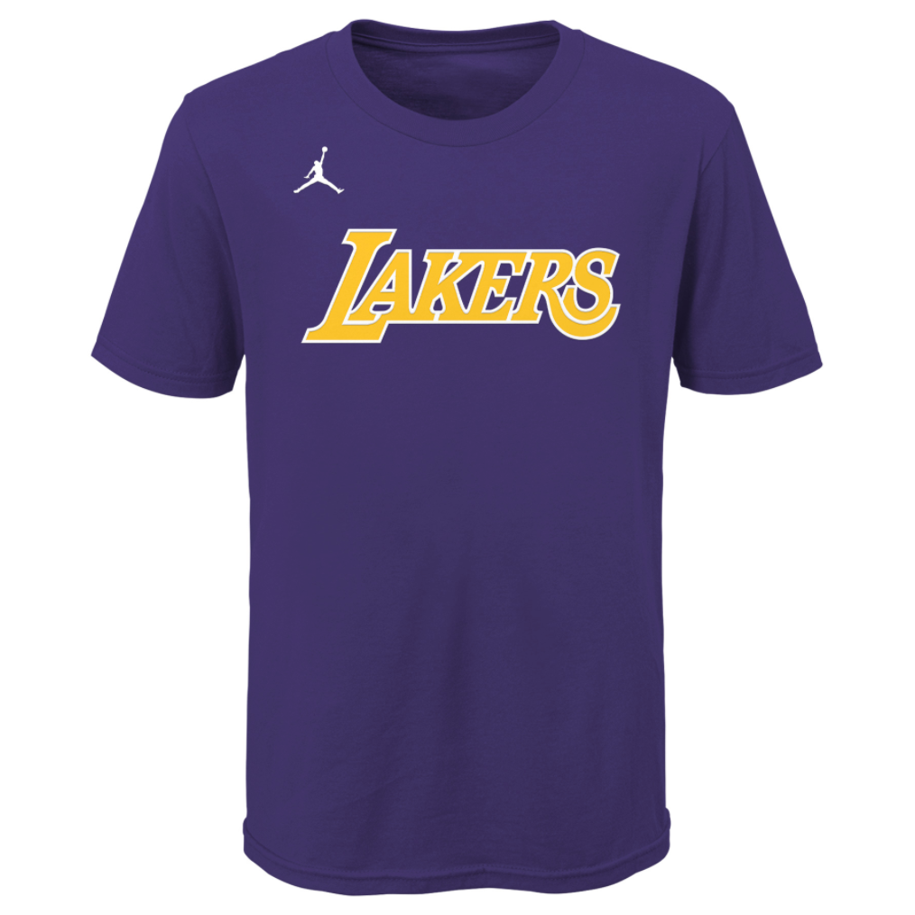 Los Angeles Lakers Essential Statement Edition Wordmark Youth Dri-Fit NBA T-Shirt
