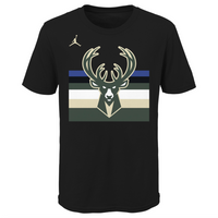 Milwaukee Bucks Essential Statement Edition Wordmark Youth Dri-Fit NBA T-Shirt
