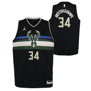 Giannis Antetokounmpo Milwaukee Bucks 2021 Statement Edition Youth NBA Swingman Jersey