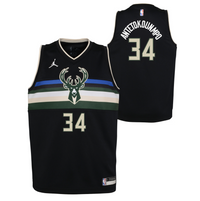 Giannis Antetokounmpo Milwaukee Bucks 2021 Statement Edition Boys NBA Jersey