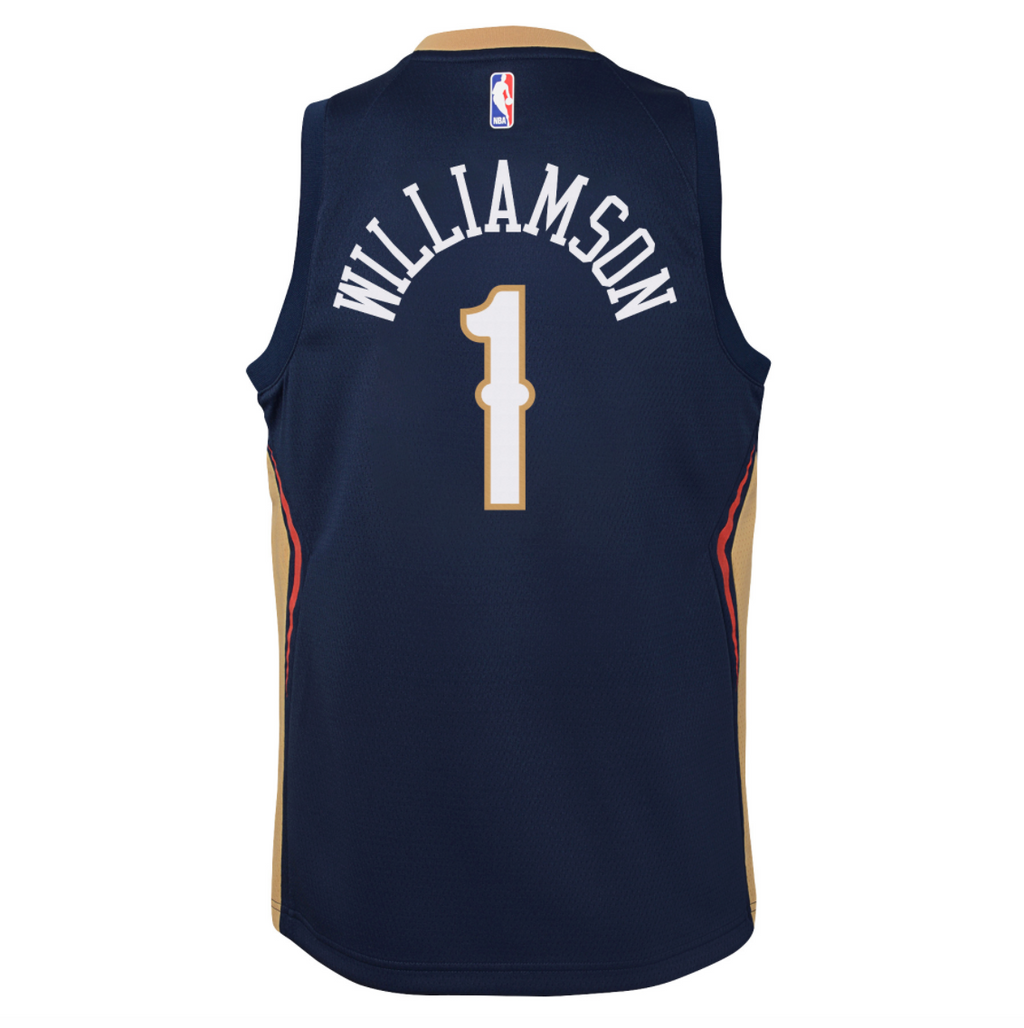 Zion Williamson New Orleans Pelicans 2021 Icon Edition Youth NBA Swingman Jersey