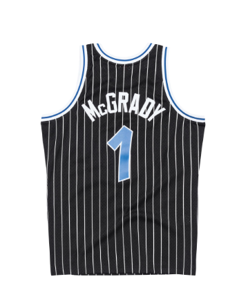 TRACY McGRADY ORLANDO MAGIC NBA HARDWOOD CLASSICS THROWBACK BLACK SWINGMAN JERSEY