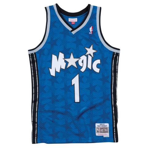 TRACY McGRADY ORLANDO MAGIC NBA HARDWOOD CLASSICS THROWBACK SWINGMAN JERSEY