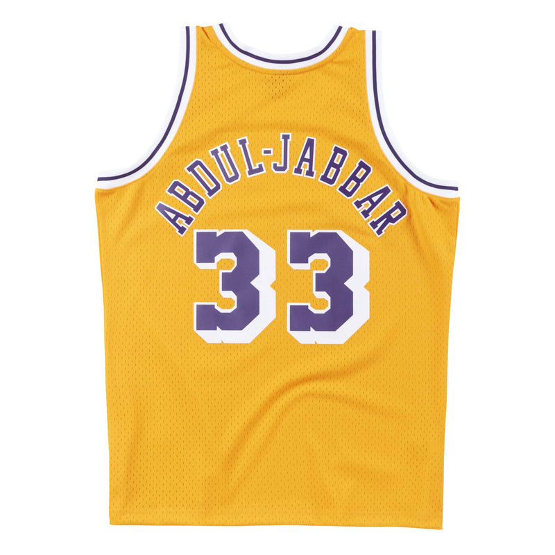 Kareem Abdul-Jabbar Los Angeles Lakers Hardwood Classics Throwback NBA Swingman Jersey