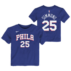 BEN SIMMONS PHILADELPHIA 76ERS NIKE ICON KIDS DRI-FIT T-SHIRT