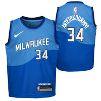 Giannis Antetokounmpo Milwaukee Bucks City Edition Boys NBA Jersey