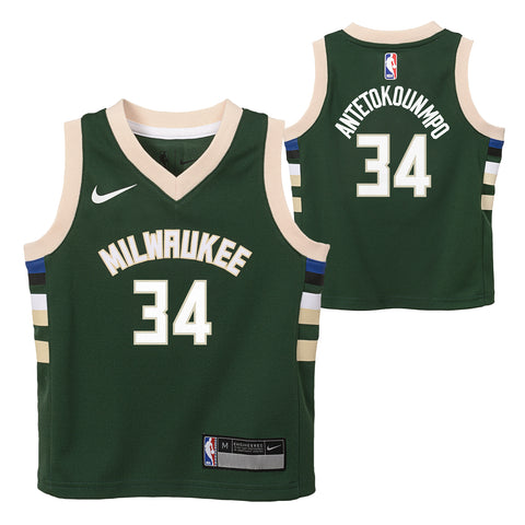GIANNIS ANTETOKOUNMPO MILWAUKEE BUCKS NBA NIKE ICON BOYS SWINGMAN JERSEY