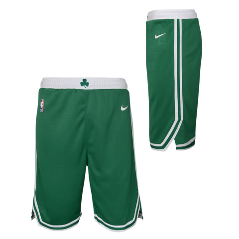 BOSTON CELTICS NBA ICON EDITION YOUTH GREEN SWINGMAN SHORTS - Basketball Jersey World