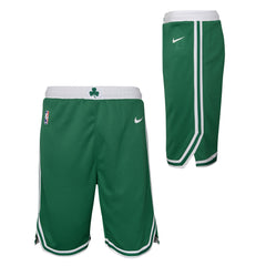 BOSTON CELTICS NIKE NBA ICON EDITION YOUTH GREEN SWINGMAN SHORTS