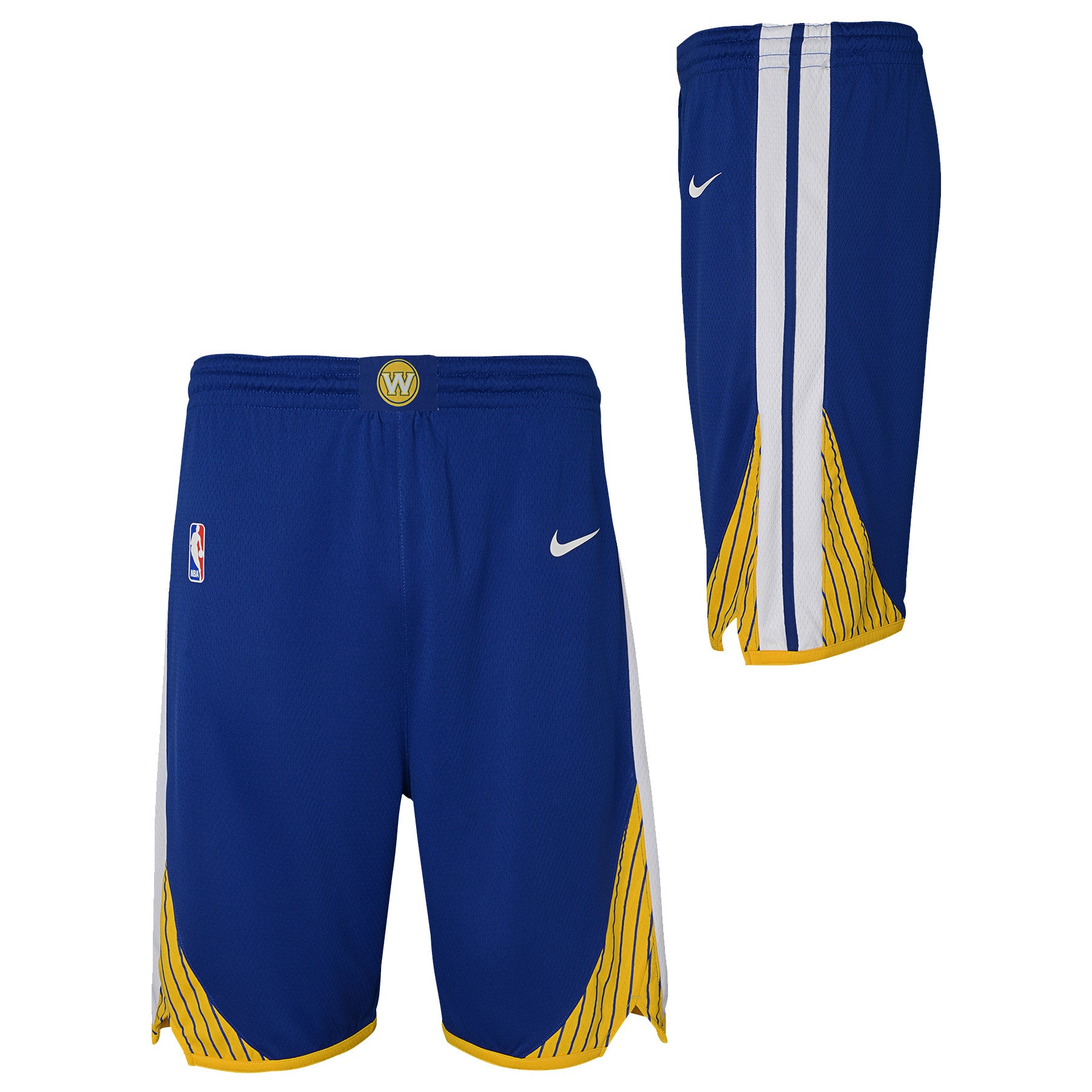 best service bee74 1f3e7 GOLDEN STATE WARRIORS NIKE NBA ICON EDITION YOUTH BLUE SWINGMAN SHORTS -  Basketball Jersey World