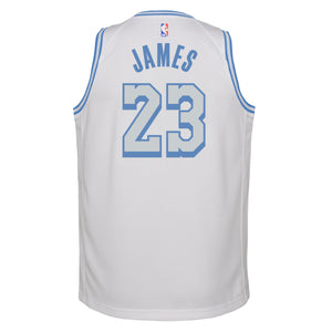 LeBron James Los Angeles Lakers City Edition Youth NBA Swingman Jersey