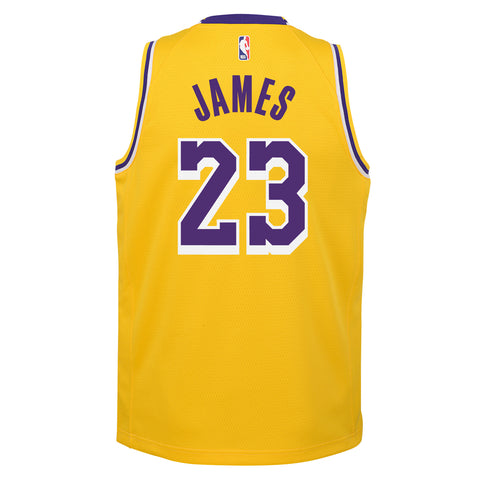 LEBRON JAMES LOS ANGELES LAKERS NBA ICON YOUTH SWINGMAN JERSEY