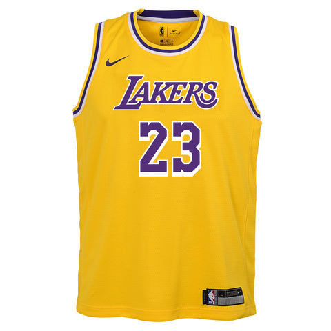 LEBRON JAMES LOS ANGELES LAKERS NBA NIKE ICON YOUTH SWINGMAN JERSEY 412d97a7b