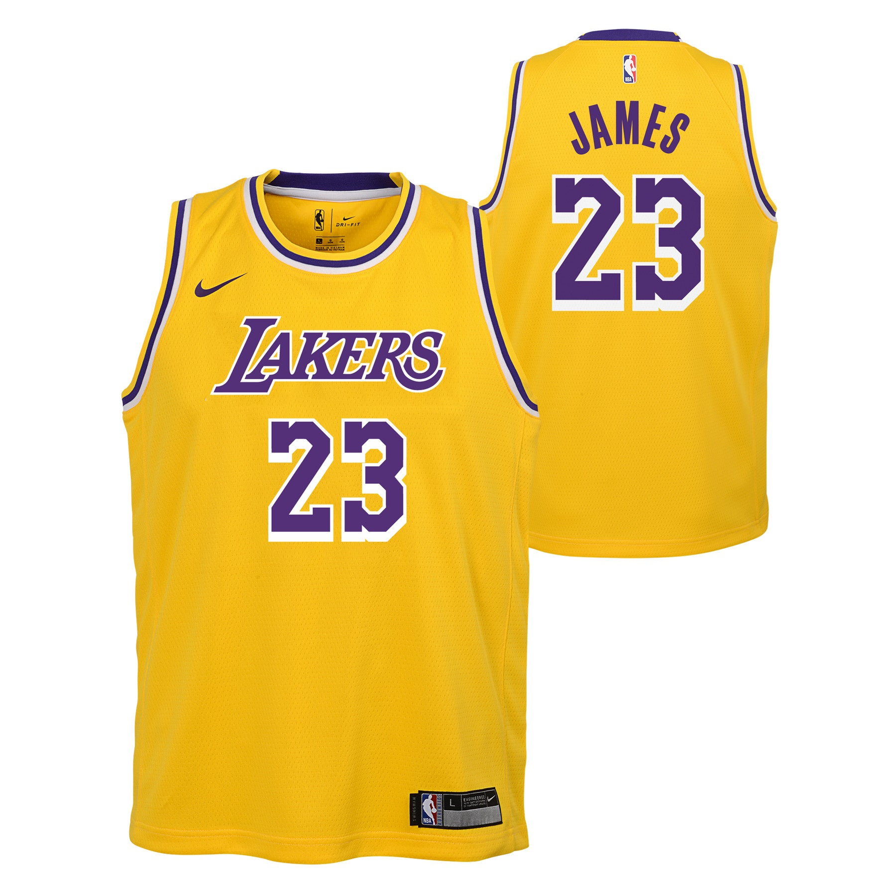 052b1c73c LEBRON JAMES LOS ANGELES LAKERS NBA NIKE ICON YOUTH SWINGMAN JERSEY –  Basketball Jersey World