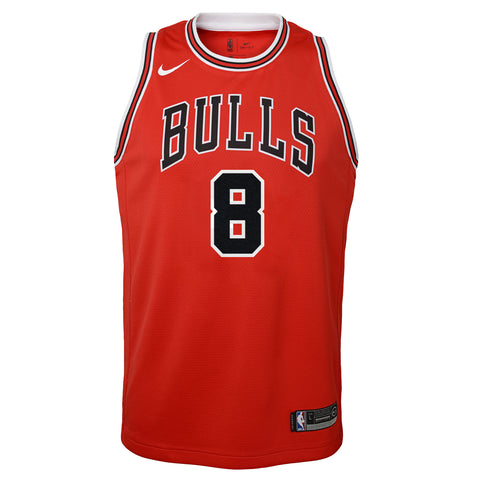 ZACH LAVINE CHICAGO BULLS NBA NIKE ICON YOUTH SWINGMAN JERSEY