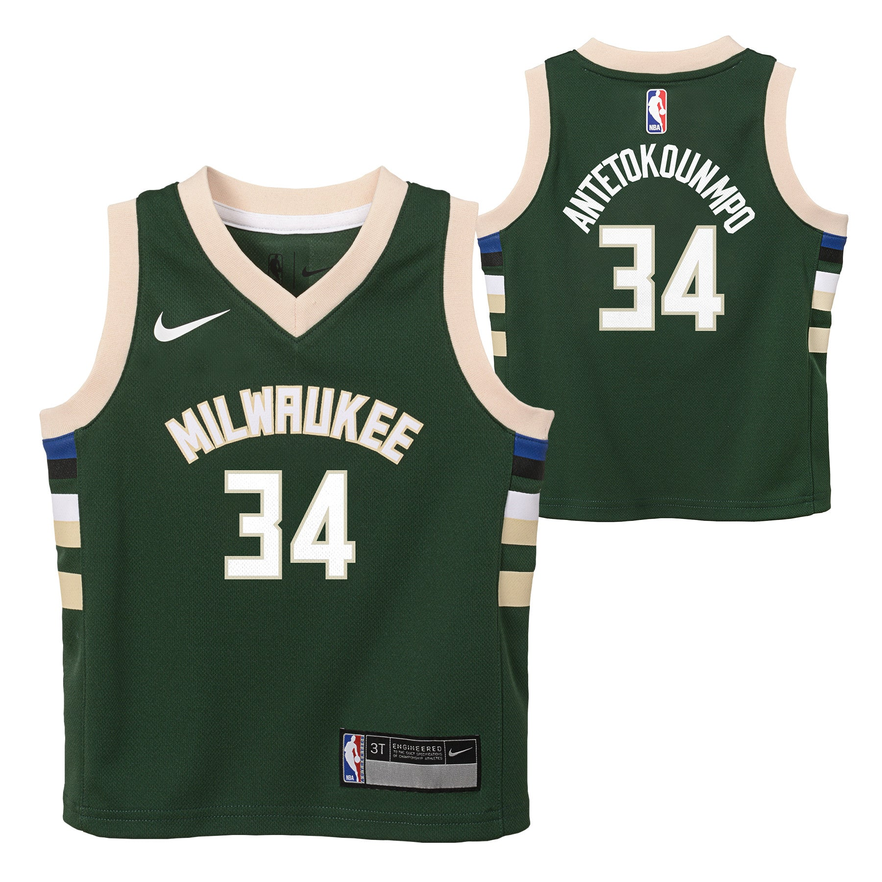 GIANNIS ANTETOKOUNMPO MILWUAKEE BUCKS NBA NIKE ICON TODDLER JERSEY