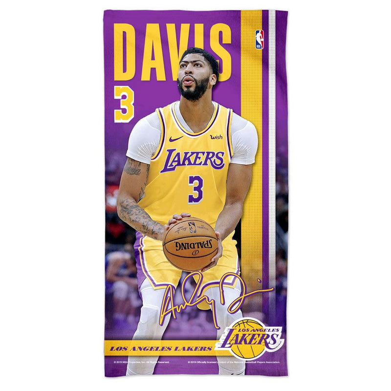 Anthony Davis Los Angeles Lakers NBA Beach Towel
