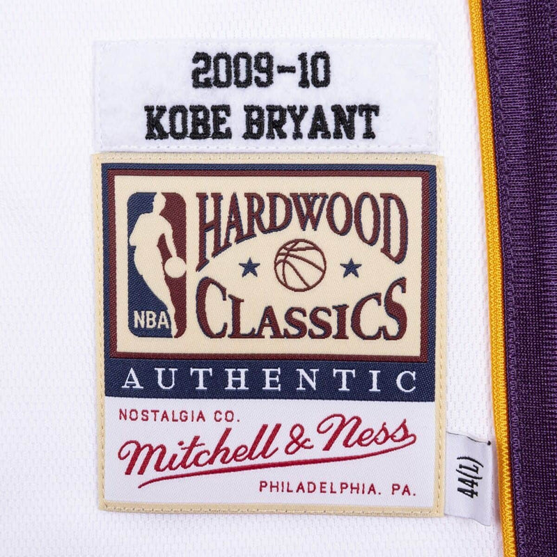 Kobe Bryant Hardwood Classics Throwback Los Angeles Lakers 2009-10 Finals NBA Authentic Jersey