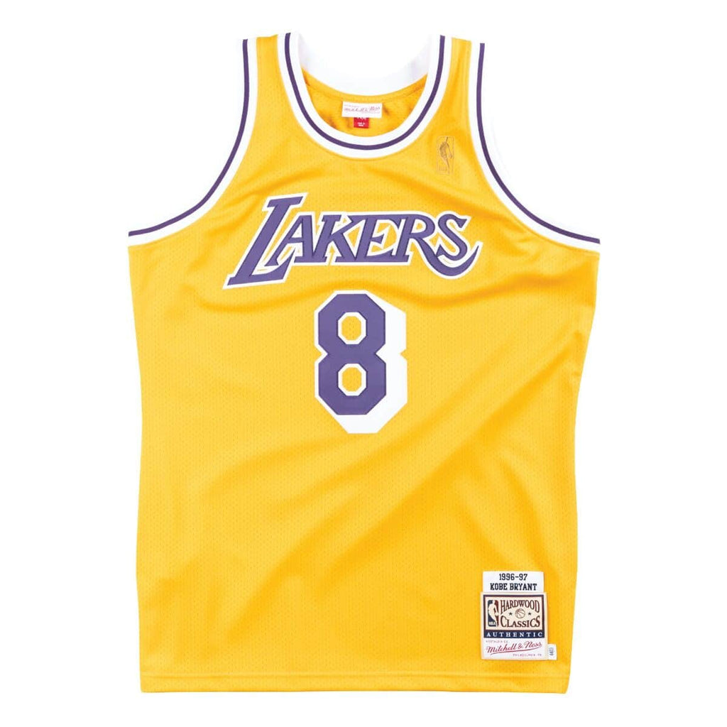Kobe Bryant Los Angeles Lakers Hardwood Classics Throwback NBA Authentic Rookie Jersey