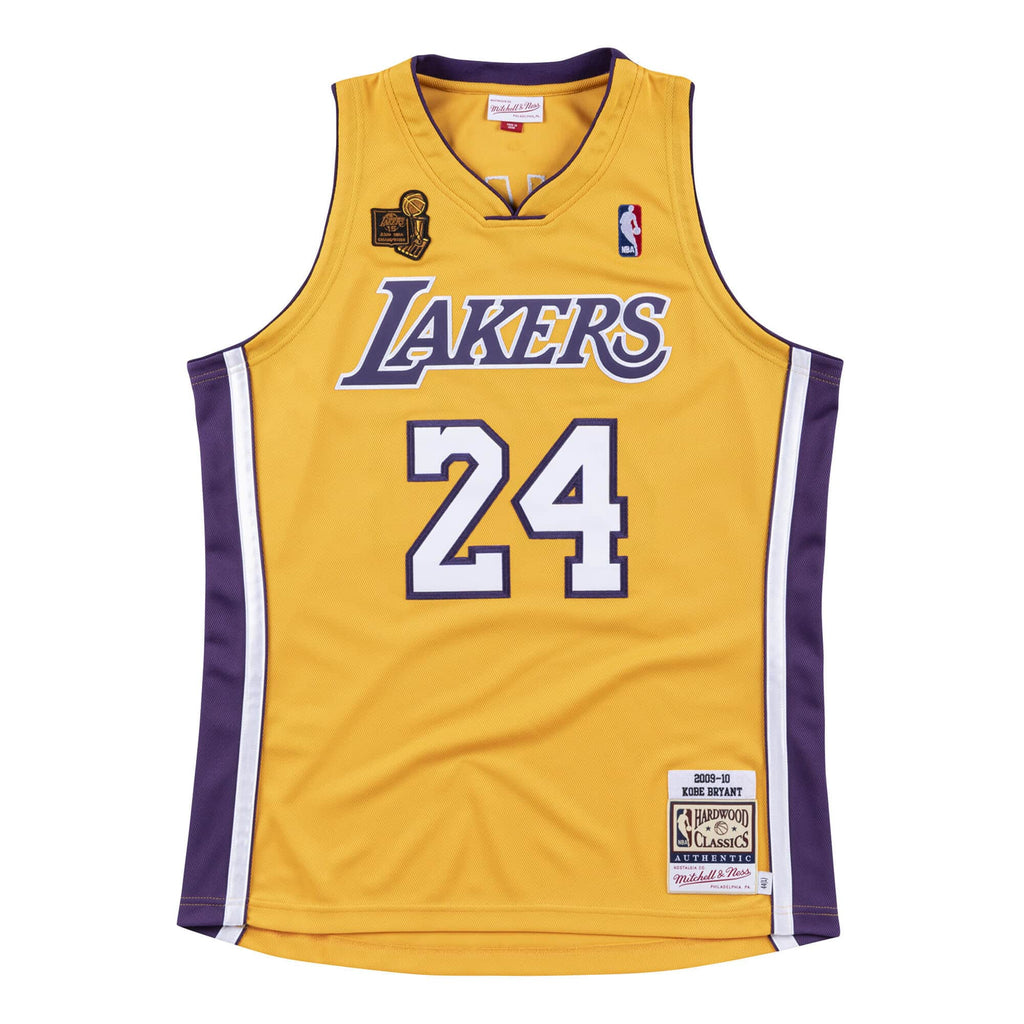 Kobe Bryant Hardwood Classics Throwback Los Angeles Lakers 2009-10 Opening Night NBA Authentic Jersey