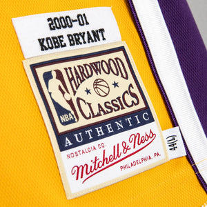 Kobe Bryant Los Angeles Lakers Hardwood Classics Throwback 2000-01 Finals NBA Authentic Jersey