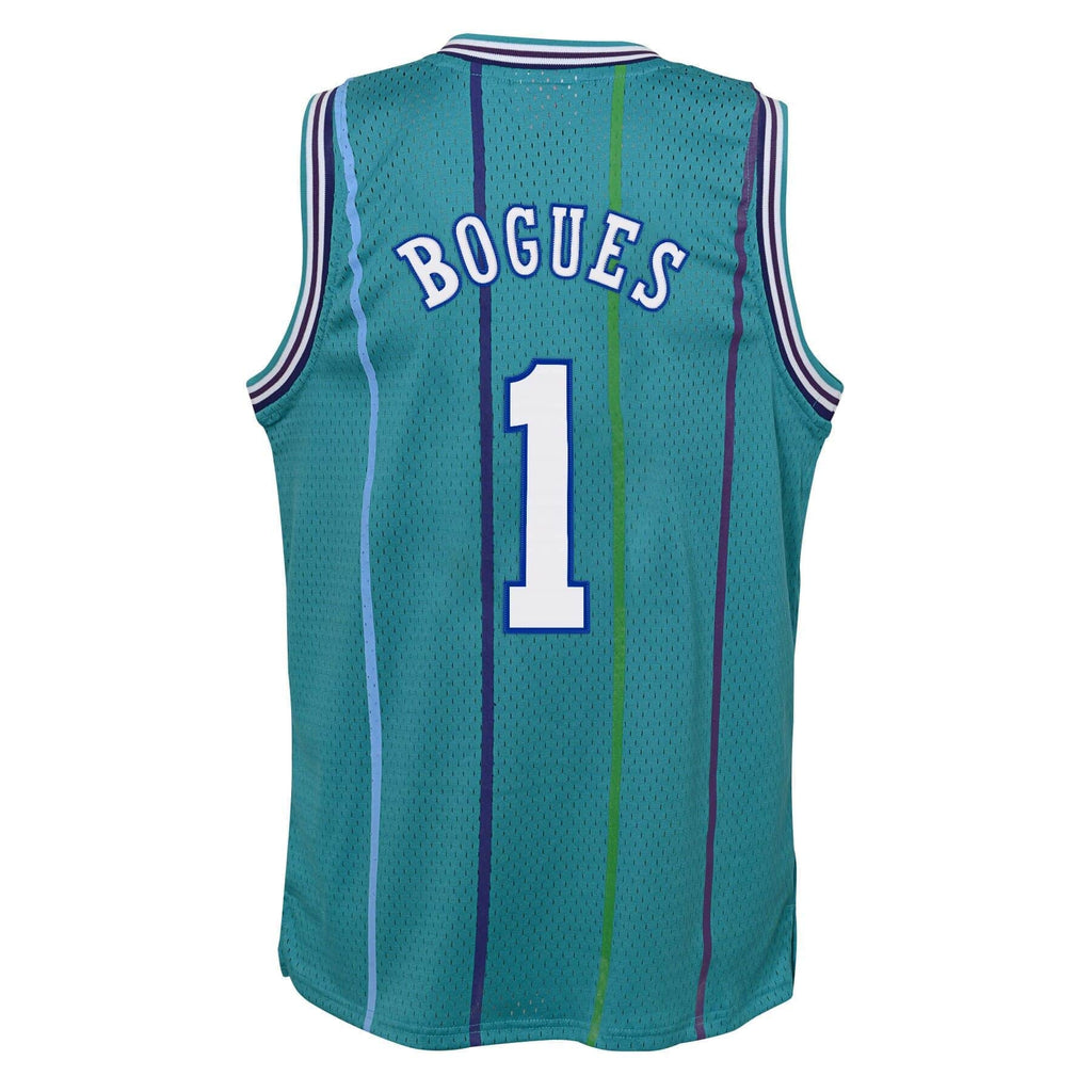 Muggsy Bogues Charlotte Hornets Mitchell & Ness HWC Youth NBA Swingman Jersey