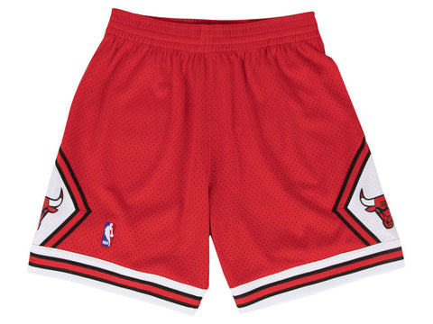 CHICAGO BULLS NBA HARDWOOD CLASSICS THROWBACK RED SWINGMAN SHORTS