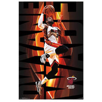 Dwyane Wade Miami Heat NBA Wall Poster