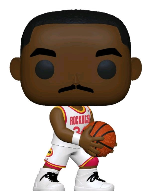 Hakeem Olajuwon Houston Rockets Hardwood Classics Throwback NBA Legends Pop Vinyl