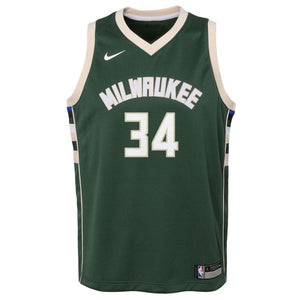 Giannis Antetokounmpo Milwaukee Bucks Icon Edition Youth NBA Swingman Jersey